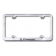 Crosstour Wide Body Laser Etched Chrome Metal License Plate Frame