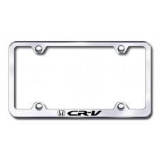 CRV Wide Body Laser Etched Chrome Metal License Plate Frame