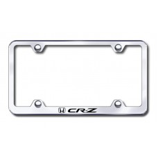 CRZ Wide Body Laser Etched Chrome Metal License Plate Frame