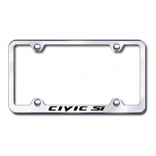 Civic SI Wide Body Laser Etched Chrome Metal License Plate Frame