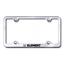 Element Wide Body Laser Etched Chrome License Plate Frame