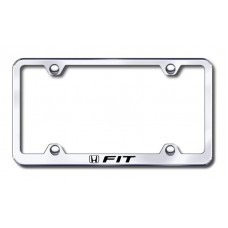 Fit Wide Body Laser Etched Chrome Metal License Plate Frame
