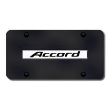 Accord Name Chrome on Black License Plate