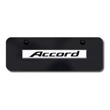 Accord Name Chrome on Black Mini License Plate