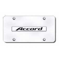 Accord Name Chrome on Chrome License Plate