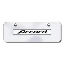 Accord Name Chrome on Chrome Mini License Plate