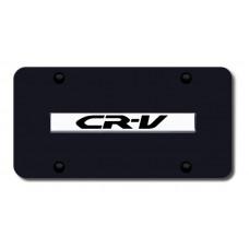 CRV Name Chrome on Black License Plate