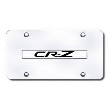CRZ Name Chrome on Chrome License Plate