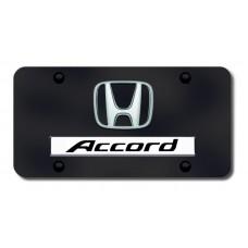 Dual Accord Chrome on Black License Plate
