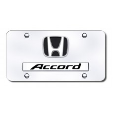 Dual Accord Chrome on Chrome License Plate