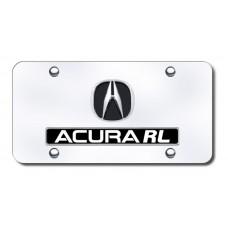 Dual Acura RL Chrome on Chrome License Plate