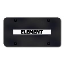 Element Name Chrome on Black License Plate