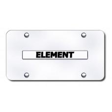 Element Name Chrome on Chrome License Plate