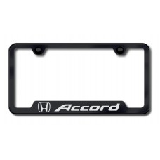 Accord Laser Etched Cut-Out License Plate Frame - Black