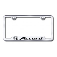 Accord Laser Etched Chrome Cut-Out License PlateFrame