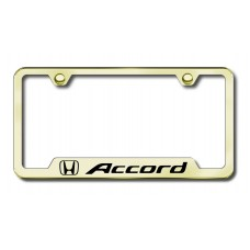 Accord Laser Etched Gold Cut-Out License Plate Frame