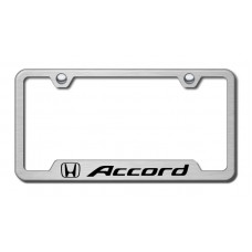 Accord Laser Etched Brushed Stainless Cut-Out License PlateFrame