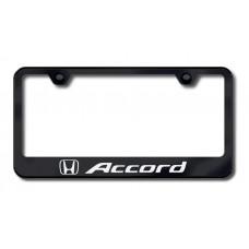 Accord Laser Etched License Plate Frame - Black