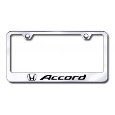 Accord Laser Etched License Plate Frame - Stainless Steel