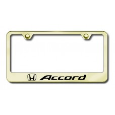 Accord Laser Etched License Plate Frame - Gold