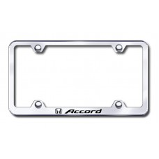 Accord Wide Body Laser Etched Chrome Metal License Plate Frame