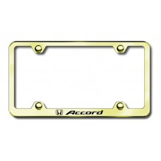 Accord Wide Body Laser Etched License Plate Frame - Gold