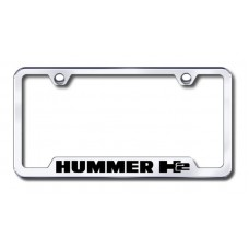 H2 Laser Etched Chrome Cut-Out License Plate Frame
