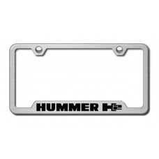 H2 Laser Etched Brushed Stainless Cut-Out License Plate Frame