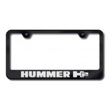 Hummer H2 Laser Etched Black License Plate Frame