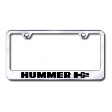 Hummer H2 Laser Etched Chrome License Plate Frame