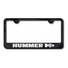 Hummer H3 Laser Etched Black License Plate Frame