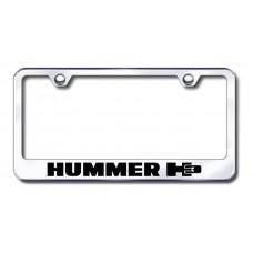 Hummer H3 Laser Etched Chrome License Plate Frame