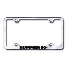 H2 Wide Body Laser Etched Chrome License Plate Frame