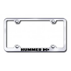 H3 Wide Body Laser Etched Chrome License Plate Frame