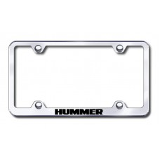 Hummer Wide Body Laser Etched Chrome License Plate Frame