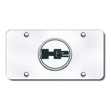 H2 Logo Chrome on Chrome License Plate