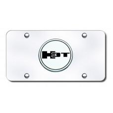 H3T Logo Chrome on Chrome License Plate