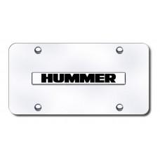 Hummer Name Chrome on Chrome License Plate