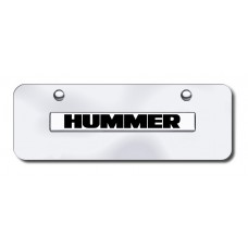 Hummer Name Chrome/Chrome Mini License Plate