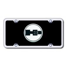 H3 Logo CHR/BLK Acrylic License Plate Kit