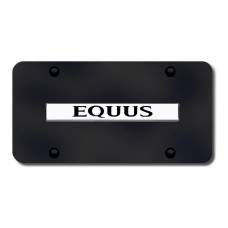 Equus Name Chrome on Black License Plate