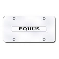 Equus Name Chrome on Chrome License Plate