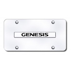 Genesis Name Chrome on Chrome License Plate