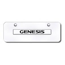 Genesis Name Chrome on Chrome Mini License Plate