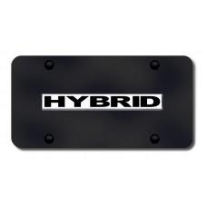 Hybrid Name Chrome on Black License Plate