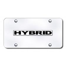 Hybrid Name Chrome on Chrome License Plate