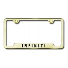 Infiniti Laser Etched Gold Cut-Out License Plate Frame