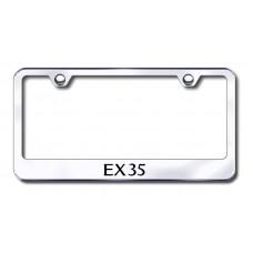 EX35 Laser Etched Chrome Metal License Plate Frame