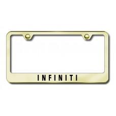 Infiniti Laser Etched Gold Metal License Plate Frame