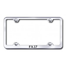 FX37 Wide Body Laser Etched Chrome Metal License Plate Frame